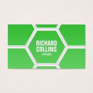 Hi-Tech Honeycomb Pattern - Green Business Card