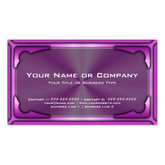 Hi Tech Metallic Card Version 1 with Photo Business Card Template