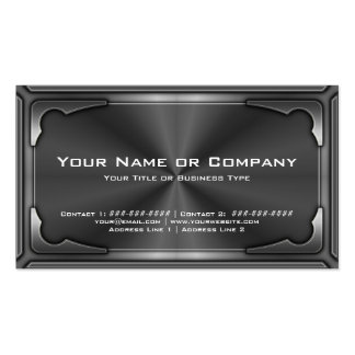 Hi Tech Metallic Card Version 1 with Photo Business Cards