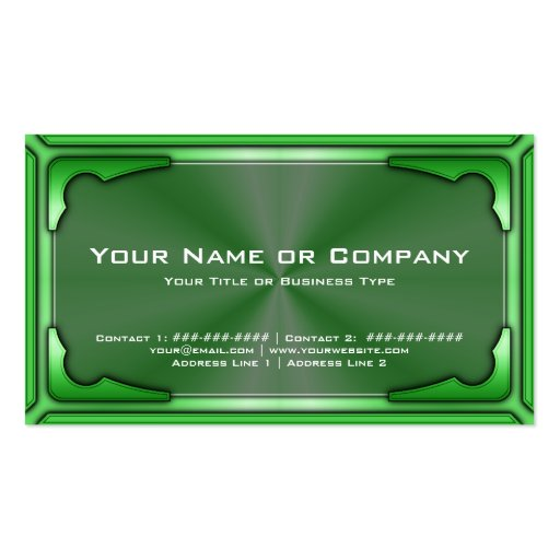 Hi Tech Metallic Card Version 1 with Photo Double-Sided Standard Business Cards (Pack Of 100)