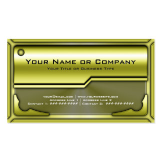Hi Tech Metallic Card Version 2 with Photo Business Card Template