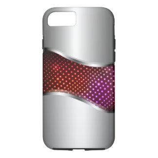 Hi Tech Metallic Chrome Swoop red iPhone 8/7 Case