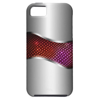Hi Tech Metallic Chrome Swoop red iPhone SE/5/5s Case