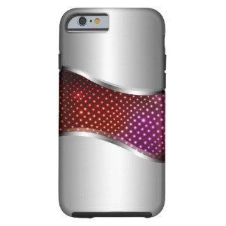 Hi Tech Metallic Chrome Swoop red Tough iPhone 6 Case