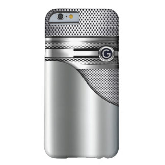 Hi-Tech Monogram Silver Mesh Perforated Metal Barely There iPhone 6 Case