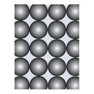 Hi-Tech Silver and Gray Balls Postcard