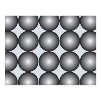 Hi-Tech Silver and Gray Balls Postcard