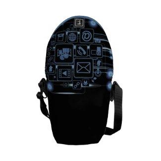 HI-TECH Society Community Generation Initials Bag Messenger Bags