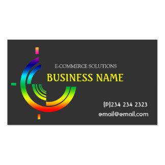Hi-Tech Tri Rainbow Custom Business Business Card Templates