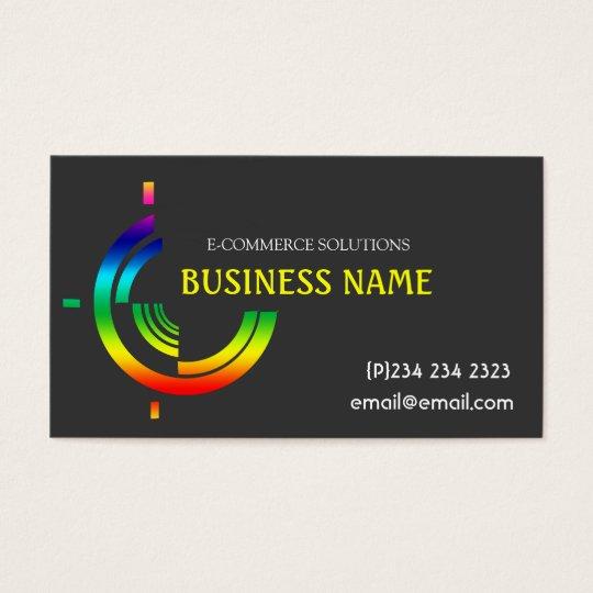 Hi-Tech Tri Rainbow Custom Business Business Card