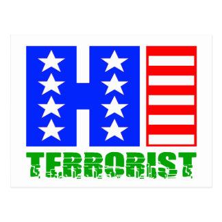 Hi Terrorist Postcard