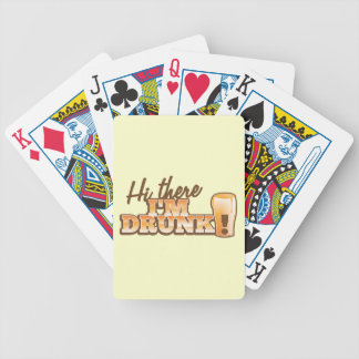 Hi there! I'm DRUNK! from the Beer Shop Bicycle Playing Cards
