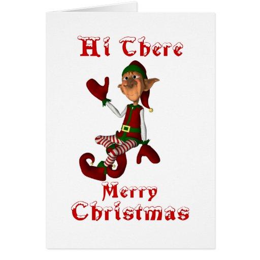 Hi There Merry Elf Card