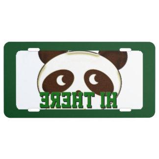 Hi there Panda License Plate