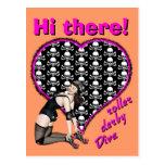 Hi there! roller derby Diva Postcard