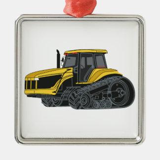 Hi Track Tractor Metal Ornament