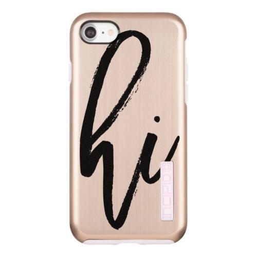Hi | Trendy and Cool Modern Script Typography Incipio DualPro Shine iPhone 8/7 Case