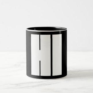 Hi Two-Tone Coffee Mug