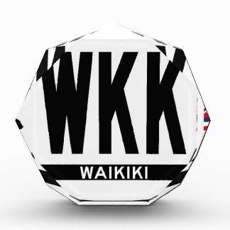 Hi-WAIKIKI-Sticker Acrylic Award