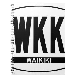 Hi-WAIKIKI-Sticker Spiral Notebook