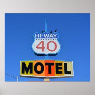 Hi-way 40 Motel Sign