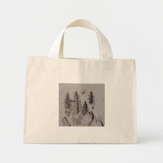 Hi! Written in Florida beach sand with footprints Tote Bags