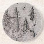 Hi! Written in Florida beach sand with footprints Coaster