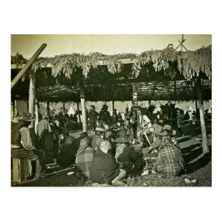 Hi-yi Hi-yi Flathead Native American War Dance Postcard