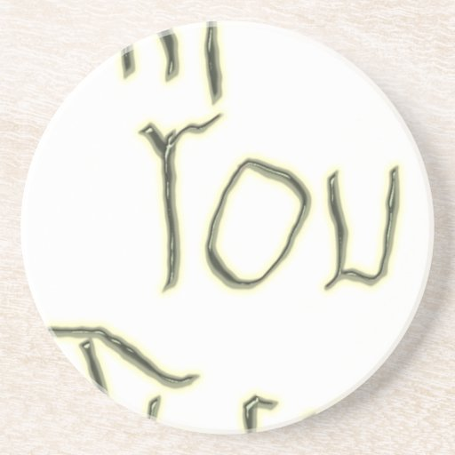Hi You There glow in the dark Beverage Coaster