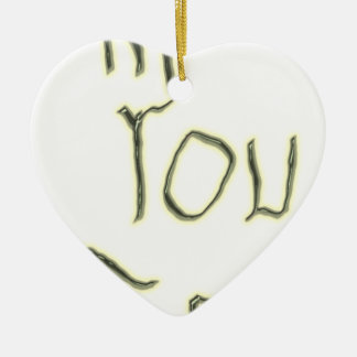 Hi You There glow in the dark Ceramic Ornament
