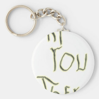 Hi You There glow in the dark Keychain