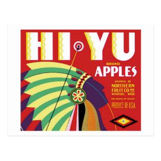 Hi-Yu Brand Postcard