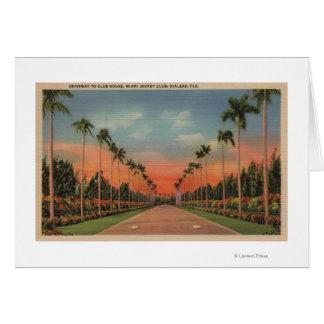 Hialeah, Florida - Miami Jockey Club Driveway Greeting Card