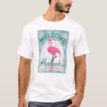 Hialeah Florida Pink Flamingo Retro