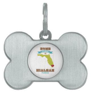 Hialeah, mapa de la Florida - casero es donde está Placa Mascota