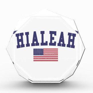 Hialeah US Flag Acrylic Award