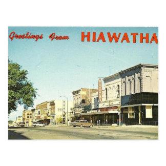 Hiawatha Kansas Tarjetas Postales