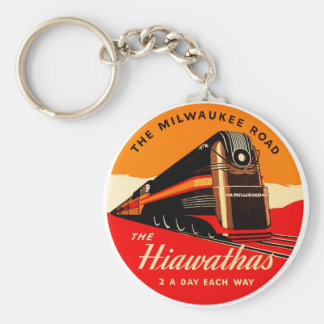 Hiawathas Train Keychain