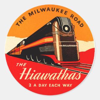 Hiawathas Train Classic Round Sticker