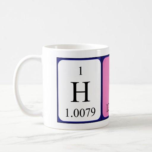 hiba periodic table name mug zazzle. Black Bedroom Furniture Sets. Home Design Ideas