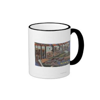 Hibbing, Minnesota - Large Letter Scenes Ringer Coffee Mug