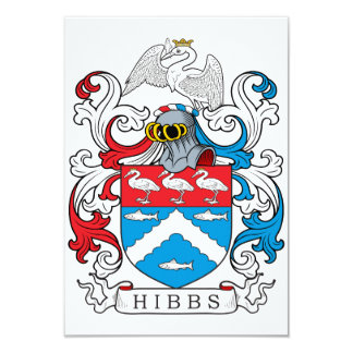 Hibbs Family Crest Card
