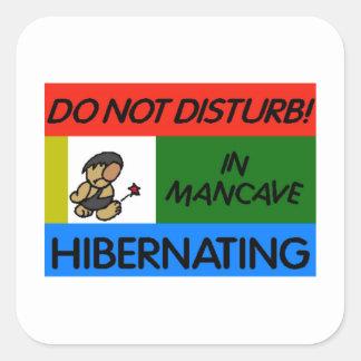 Hibernating in Man Cave Stickers