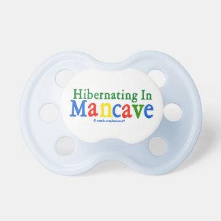 Hibernating in Mancave BooginHead Pacifier