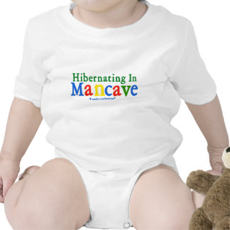 Hibernating in Mancave Baby Bodysuit