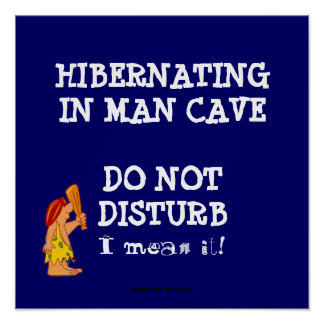 Hibernating Man Cave2 Poster