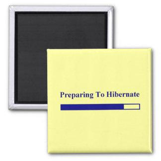 Hibernation 2 Inch Square Magnet