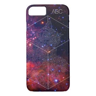 """""""Hibernation Cat"""" iPhone 7 Case: Galaxy Polygon iPhone 8/7 Case"""