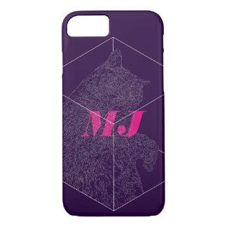 """Hibernation Cat"" iPhone 7 Case: Geometric Polygon iPhone 8/7 Case"