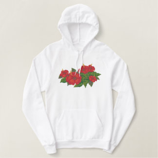 Hibicus Bouquet Embroidered Hoodie